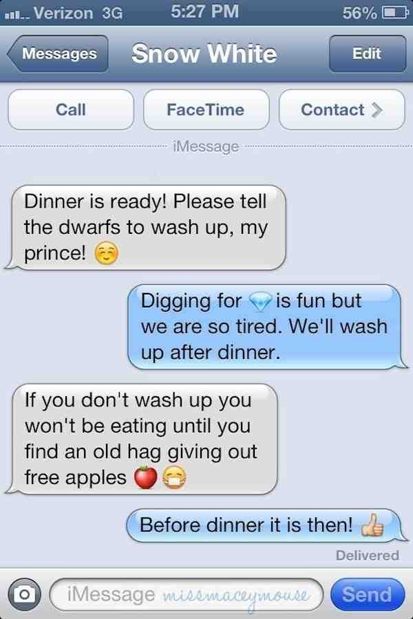 Disney text messages
