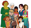 Dreamworks heroines - childhood-animated-movie-heroines fan art