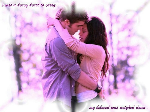 Sacred_Love1550 wallpaper probably containing a japanese apricot, a well dressed person, and an outerwear entitled Edward and Bella