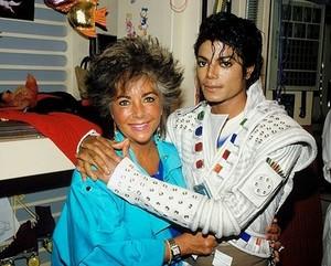 "Elizabeth Taylor And Michael Jackson On Set Of ""Captain Eo"""