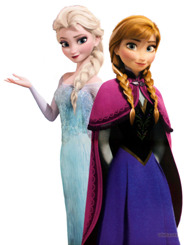 Frozen kertas dinding called Elsa and Anna
