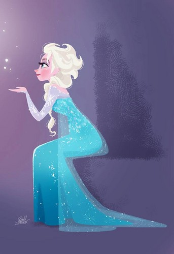 Childhood Animated Movie Heroines wallpaper titled Elsa