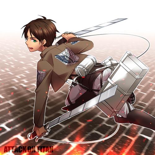 Attack on Titan karatasi la kupamba ukuta titled Eren Jaeger
