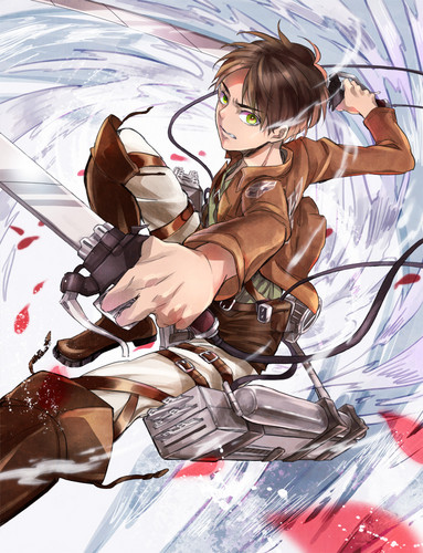 Attack on Titan kertas dinding titled Eren Jaeger