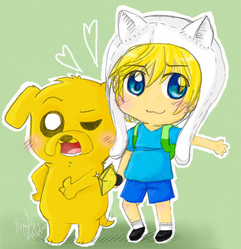 Adventure Time With Finn and Jake wallpaper containing anime called Finn and Jake