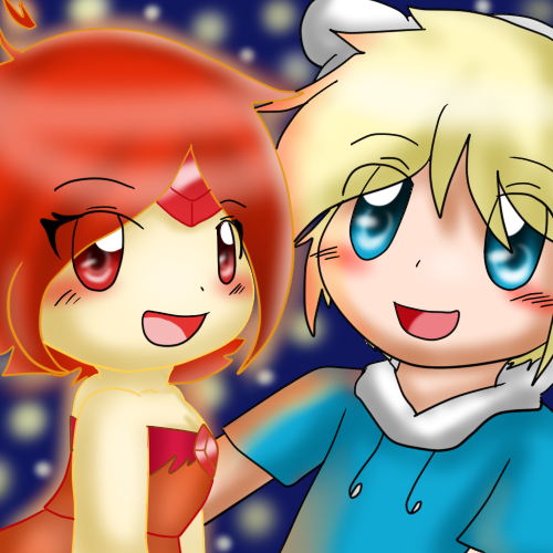 Adventure Time With Finn and Jake wallpaper called Finn x Flame Princess