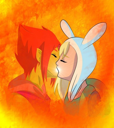 Adventure Time With Finn and Jake wallpaper titled Fionna X Flame Prince: Burning Low