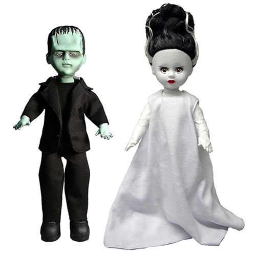 Living Dead ドール 壁紙 probably containing a well dressed person entitled Frankenstein and Bride