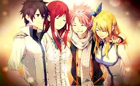 Fairy Tail Guild wolpeyper with anime entitled mga kaibigan Forever