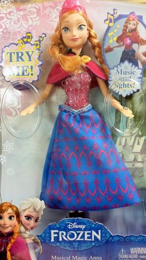 アナと雪の女王 音楽 and Lights Musical Magic Anna Doll