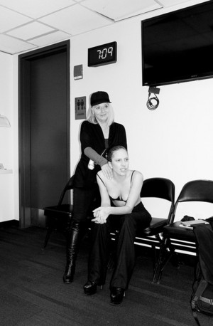 """Gaga and her Mom backstage."" - (by Terry Richardson)"