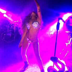 Gaga performing at V Magazine Private Party