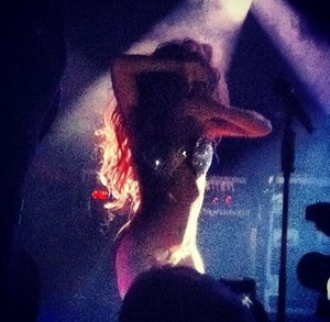 Gaga performing at V Magazine Private Party
