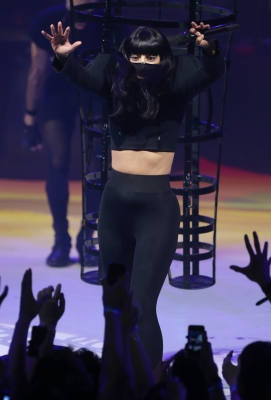 Gaga performing at the 2013 iTunes Festival in London