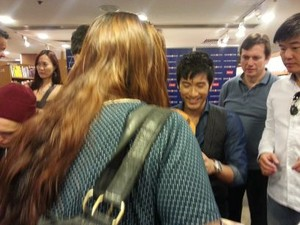 Godfrey at a book signing event [Hong Kong]