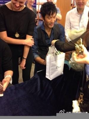 Godfrey at a book signing event [Hong Kong]