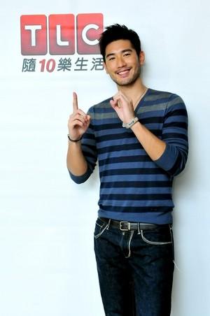 Godfrey wishing TLC Taiwan a happy 10 an anniversary