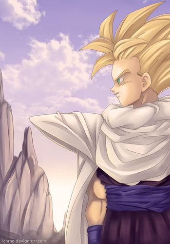 Dragon Ball Z karatasi la kupamba ukuta titled Gohan