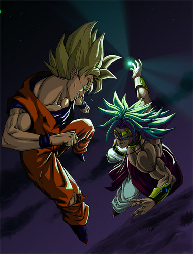 Dragon Ball Z karatasi la kupamba ukuta with anime called Goku vs Broly