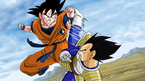 Dragon Ball Z wallpaper probably with Anime entitled Goku vs Vegeta