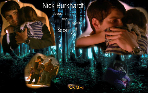televisi wallpaper probably containing a sign called Grimm - Nick Burkhardt - Season 3