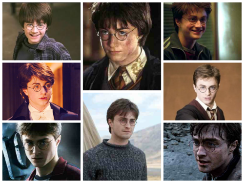Harry Potter hình nền probably containing a portrait called Harry Potter Characters Evolution