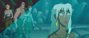 Helga, Rourke, Milo and Kida