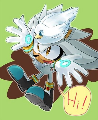 Silver the Hedgehog wallpaper probably containing anime called Hello, Dovey! :D