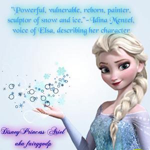 Idina on Elsa