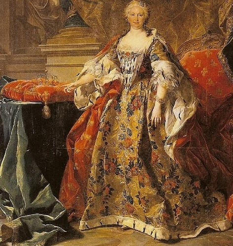 Kings and Queens wallpaper possibly with a polonaise entitled Isabella Farnese, Queen of Spain