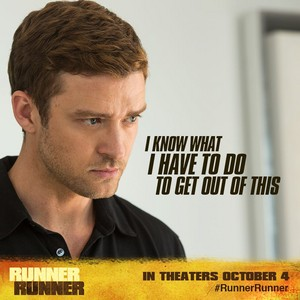 "JT new movie pic ""Runner, Runner"""