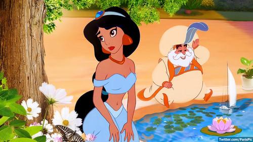 Aladdin wallpaper titled Jasmine Princess Tree King Aladdin (@ParisPic)