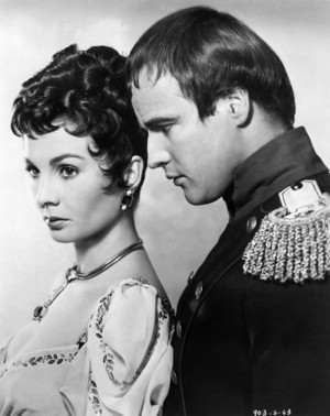 Jean Simmons and Marlon Brando