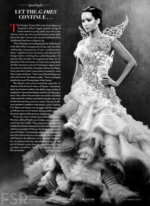 Jennifer Lawrence as Katniss Everdeen in Catching Fire- Vanity Fair magazine