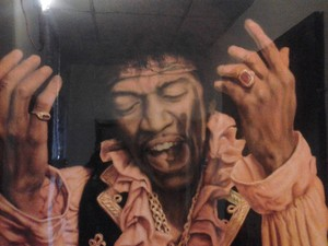 Jimmy Hendrix and the King Elvis presly