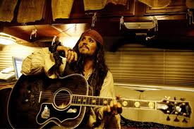 Johnny Depp with guitar