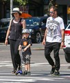 Jonny Lee Miller Spends the Day with His Family - jonny-lee-miller photo
