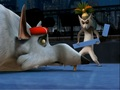 Julien vs. Rat King - penguins-of-madagascar photo