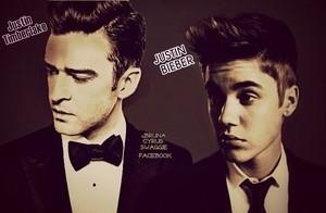 Justin Timberlake & Justin Bieber Suit & Tie