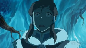 Korra in book 2 looking scared I think
