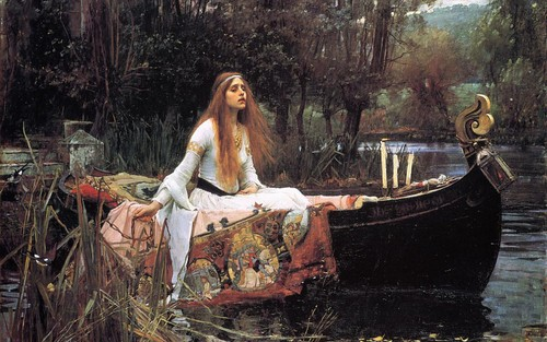 Fine Art Hintergrund called Lady of Shalott
