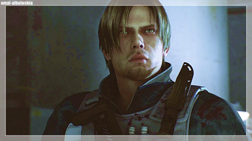 Leon Kennedy 바탕화면 probably with a green 베레모, 베 레모 entitled Leon Kennedy*_*Resident Evil Damnation
