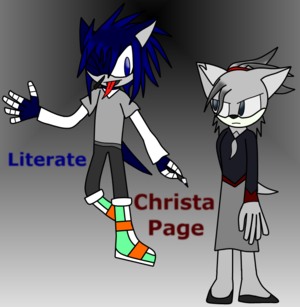 Literate and Christa Page (Gift for TakTheFox)