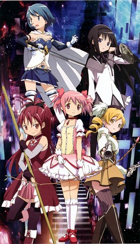 Puella Magi Madoka Magica Hintergrund with Anime called Madoka Game