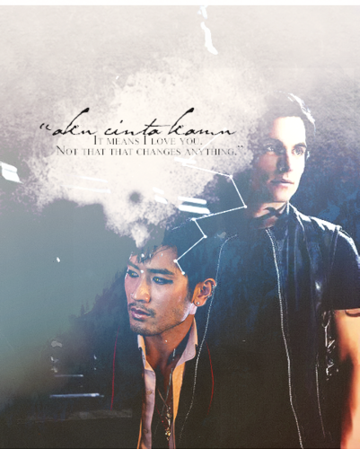 Alec & Magnus wallpaper possibly containing a sign called Malec