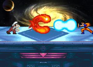 Mario vs 고쿠 (Beam Clash)