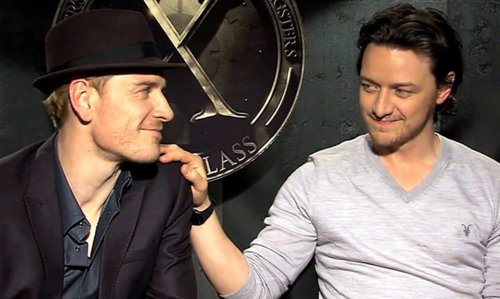 James McAvoy and Michael Fassbender wallpaper called McFassy ♥