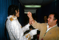 Michael And Frank DiLeo Backstage - michael-jackson photo