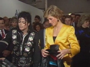 Michael Backstage With Princess Diana Back In 1988