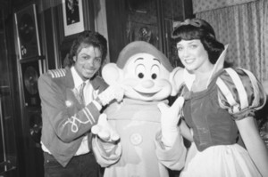 Michael With Snow White And One Of The Dwarfs